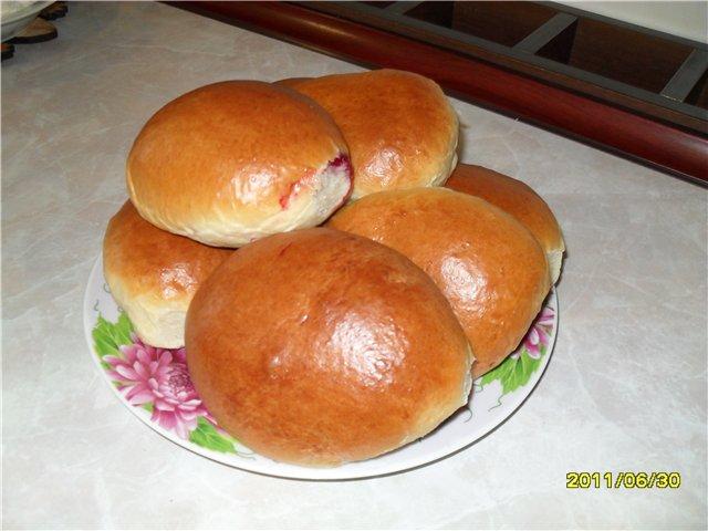 Пирожки с вишней на молоке - фото шаг 7