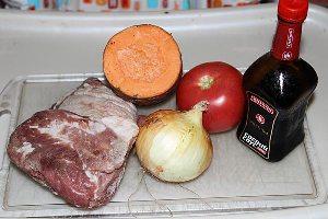 Рецепт Свинина с овощами в мультиварке