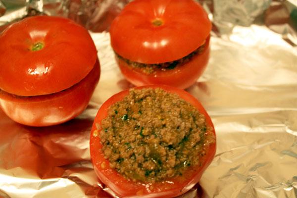 Томаты, фаршированные мясом - фото шаг 4