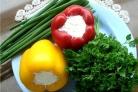 Перец, фаршированный сыром и чесноком