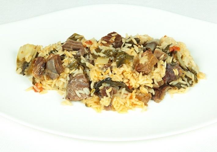 Говядина, тушеная с рисом и овощами - фото шаг 7