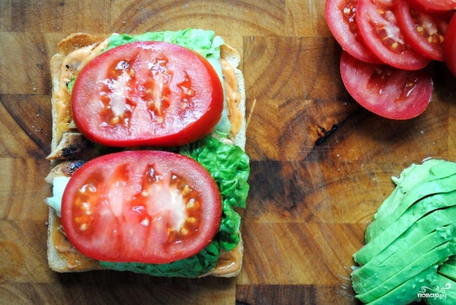 Клубный сэндвич с курицей - фото шаг 6