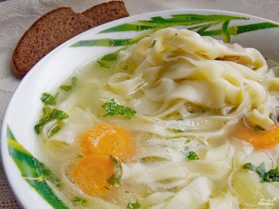 Куриный суп с лапшой рецепт видео