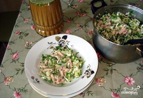 Рецепт Окрошка на березовом соке
