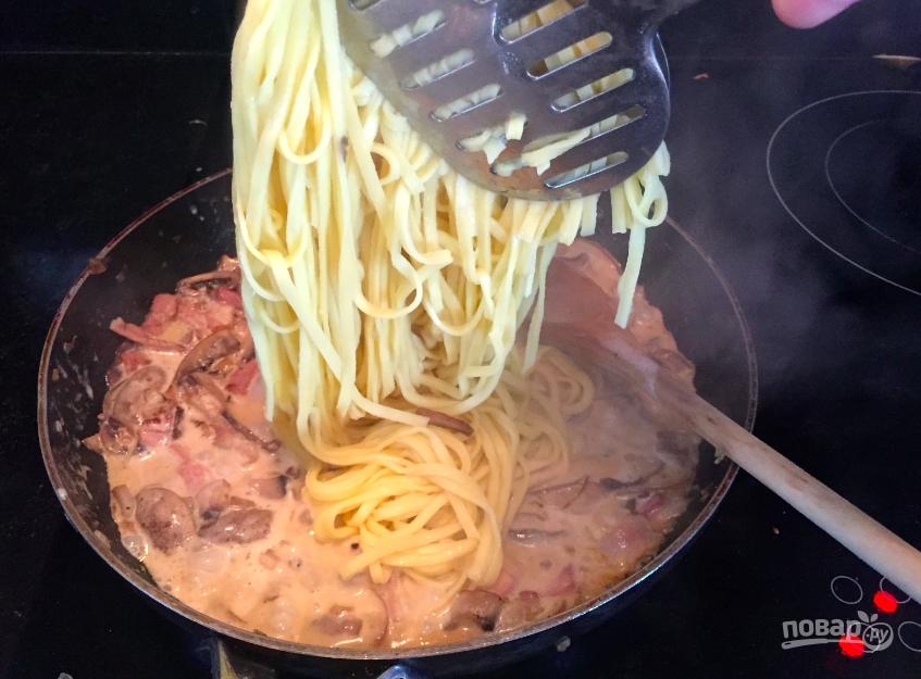 Как сделать макароны с курицей и с грибами