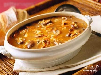 Рецепт Куриный суп с опятами