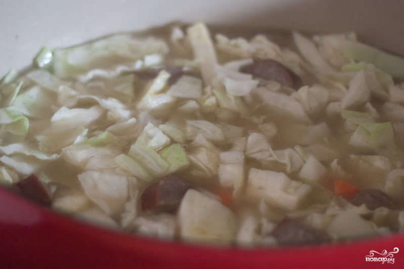 Немецкий суп с колбасками - фото шаг 6
