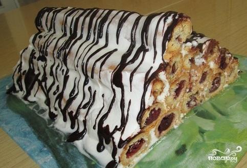 """Торт """"Изба"""" с вишней - фото шаг 9"""