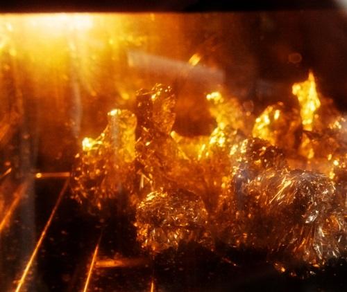 Шампиньоны в фольге в духовке - фото шаг 8