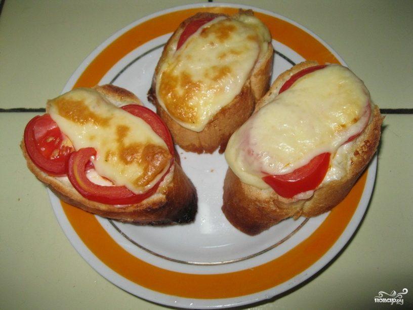 Рецепт Горячие бутерброды в микроволновке