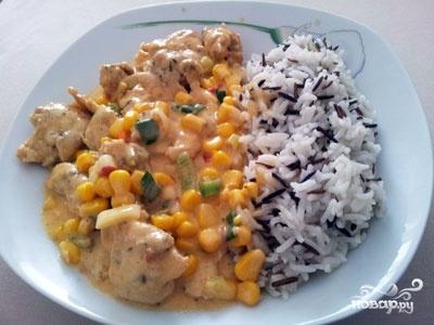 Мясо с кукурузой