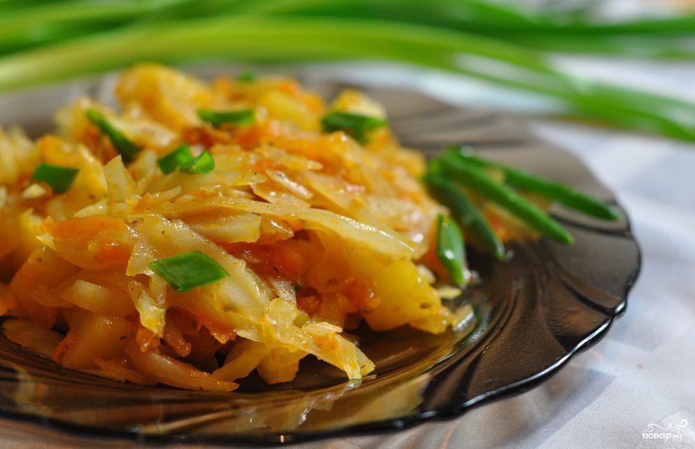 Рецепт Жареная капуста в мультиварке