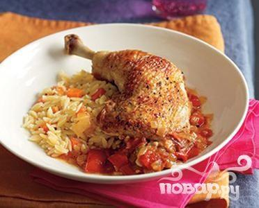 Рецепт Острая курица с пловом орзо