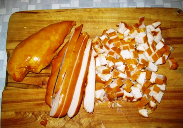 Рецепт Простой салат с ананасами консервированными