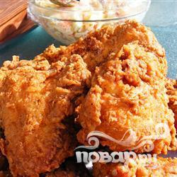 Жареная курица в тройном кляре