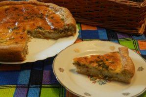 Открытый пирог с сайрой