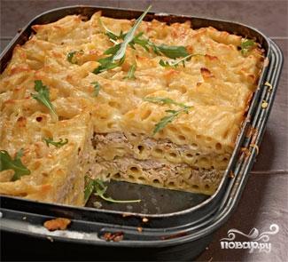 Рецепт Запеканка из макарон с мясом