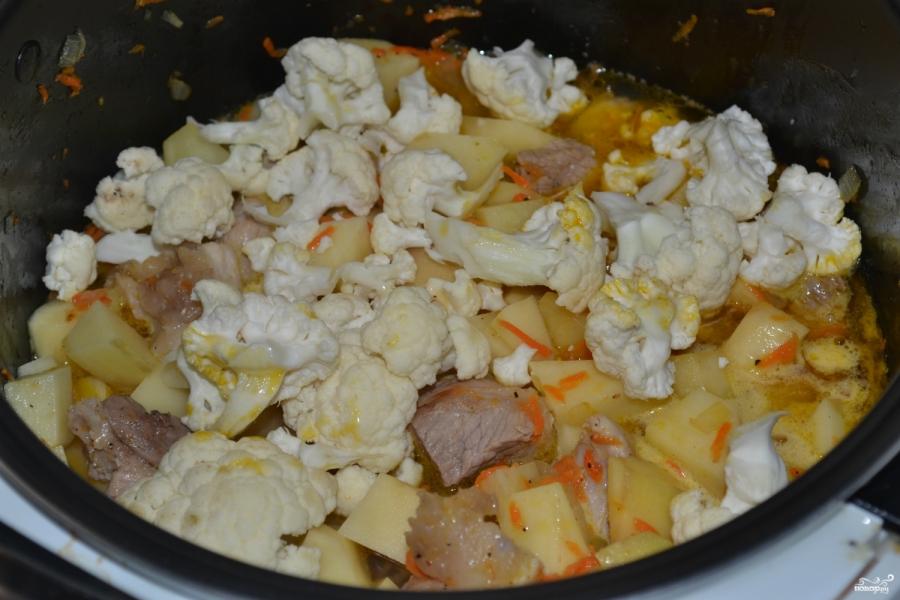 рецепт цветная капуста с мясом