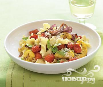 Рецепт Паста с жареными овощами и базиликом