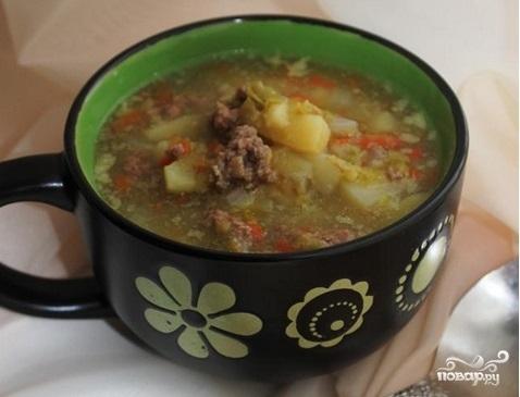 Суп с говяжьим фаршем