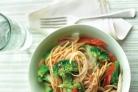 Спагетти с брокколи и болгарским перцем