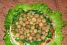 Салат Полянка с грибами