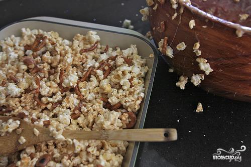 Пирожные из попкорна с миндалем - фото шаг 6