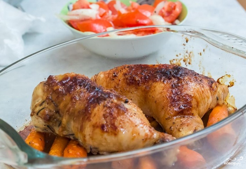 Фаршированные куриные окорочка в духовке - фото шаг 9