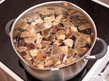 Рецепт Суп грибной из замороженных грибов