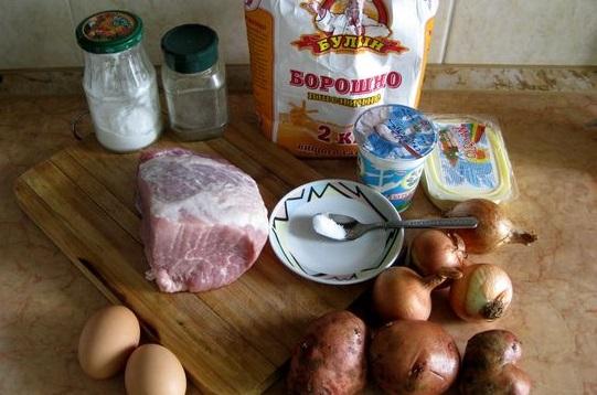 Рецепт Курник со свининой и картошкой