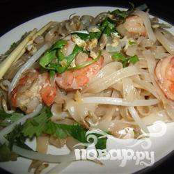 Рецепт Тайское блюдо из рисовой лапши