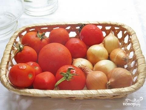 Рецепт Помидоры маринованные с луком