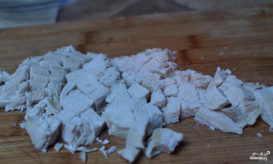 Рецепт Салат с курицей и маринованными грибами