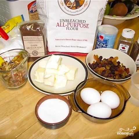 Рецепт Кекс с изюмом и грецкими орехами