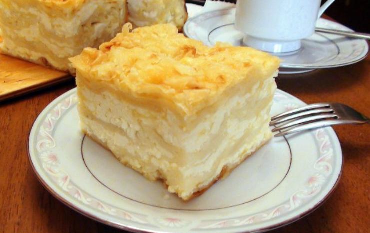 Ачма с сыром и творогом - фото шаг 7