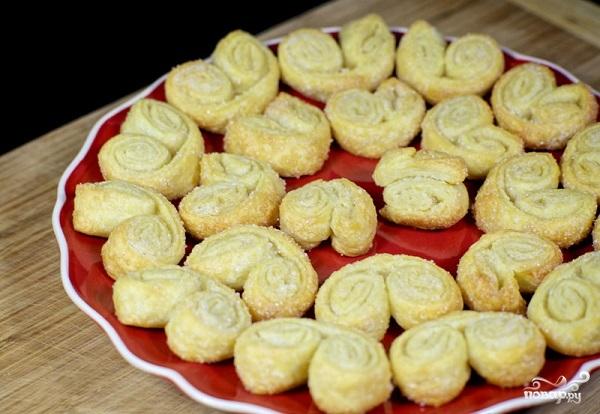 Берлинское печенье из слоеного теста