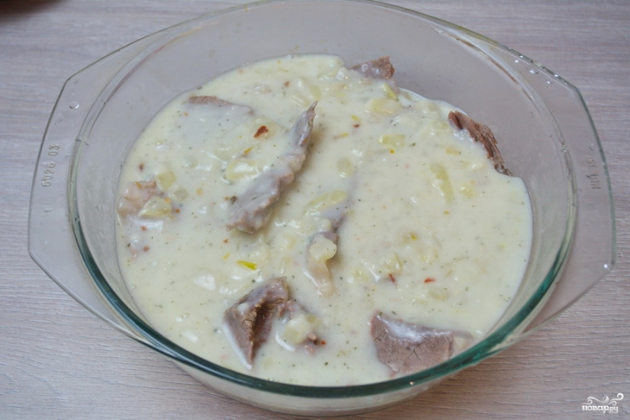 Мясо под соусом сметанным - фото шаг 8
