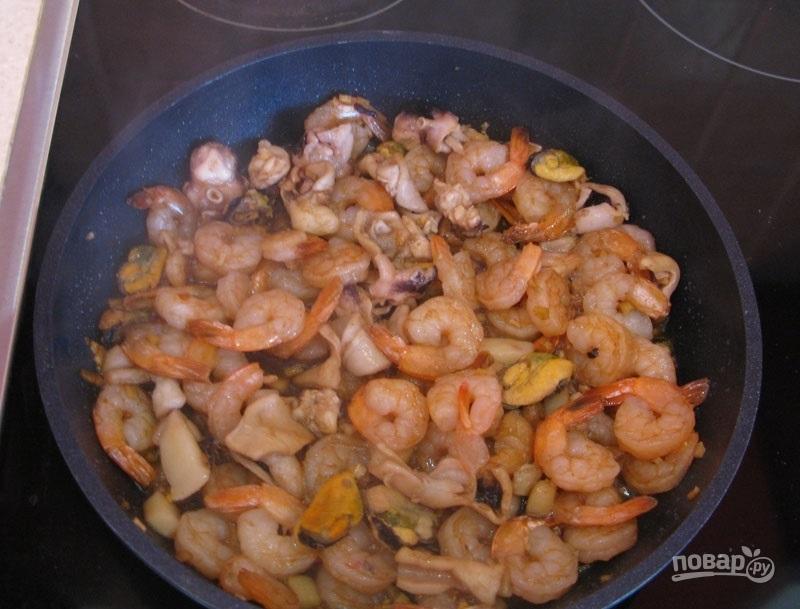 Китайская лапша с морепродуктами - фото шаг 7