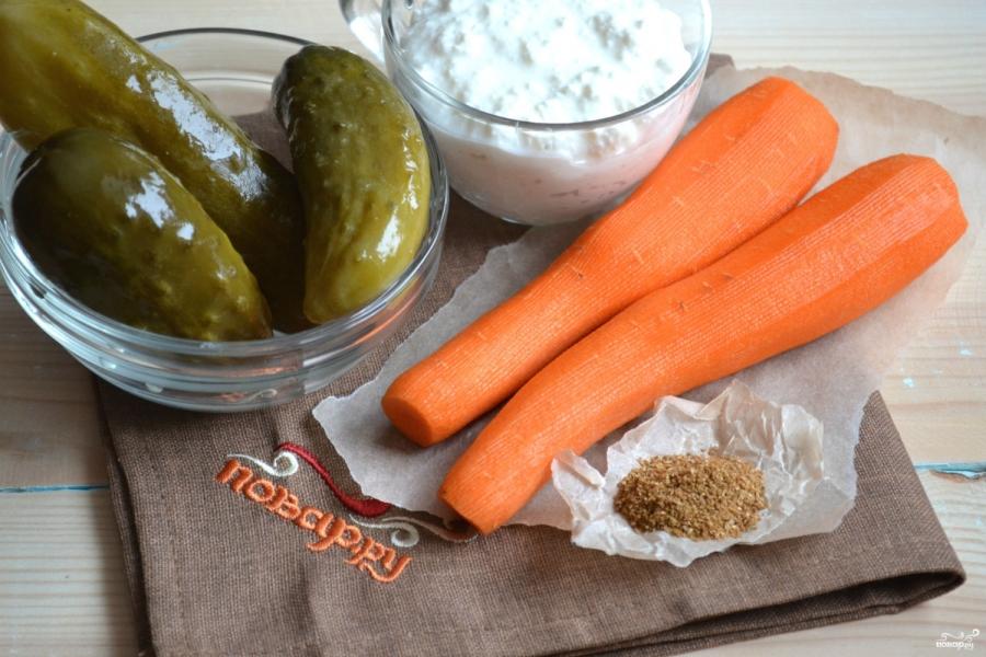 Салат из огурцов с морковкой по-корейски - фото шаг 1