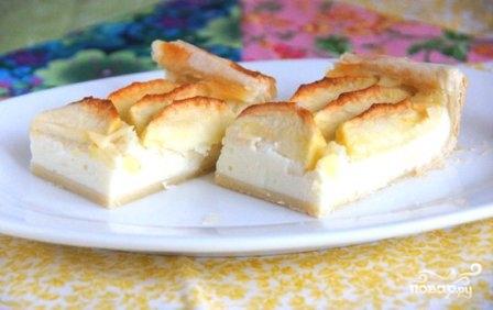 Яблочный пирог с творогом - фото шаг 9