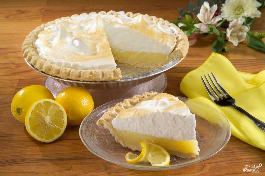 Легкий лимонный пирог