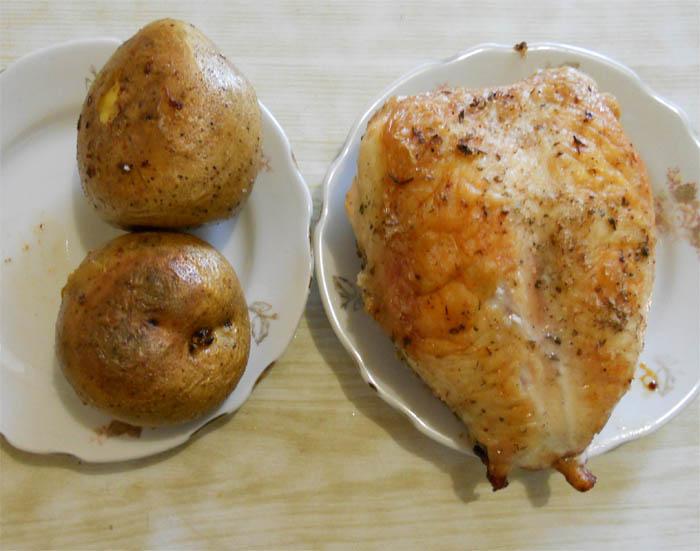 Рецепт Курица с маринованными грибами