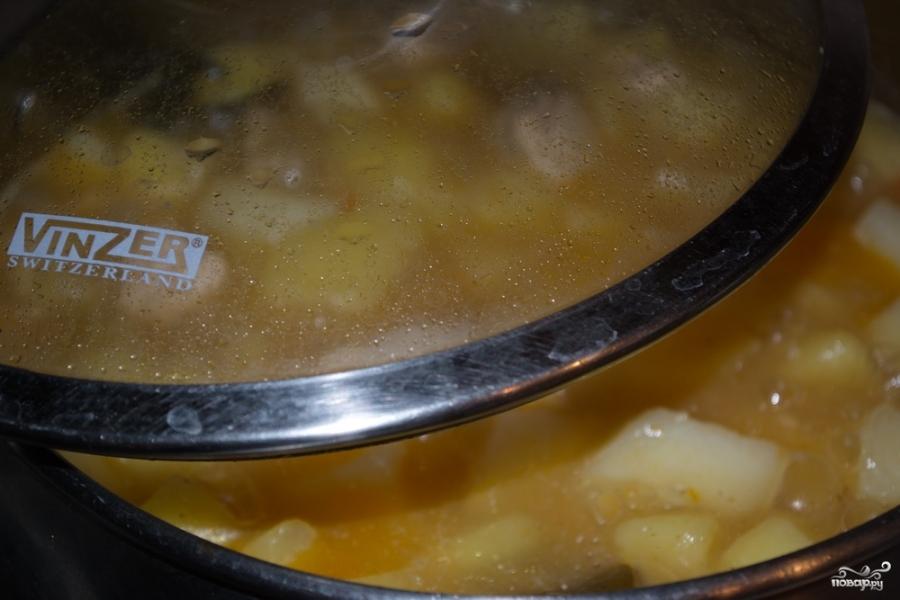 Индейка, тушенная с картошкой - фото шаг 8
