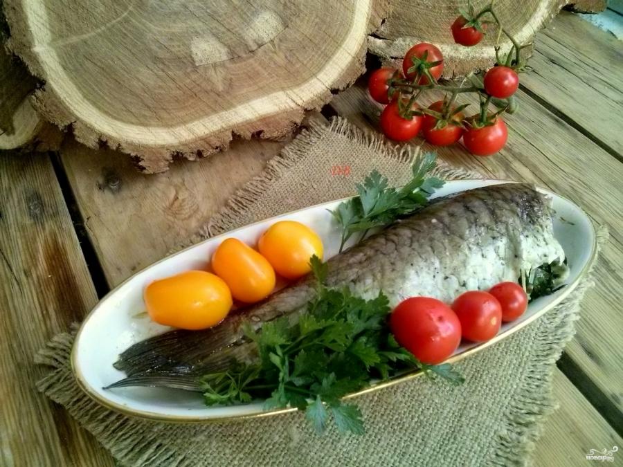 сазан в духовке рецепты с фото пошаговый рецепт