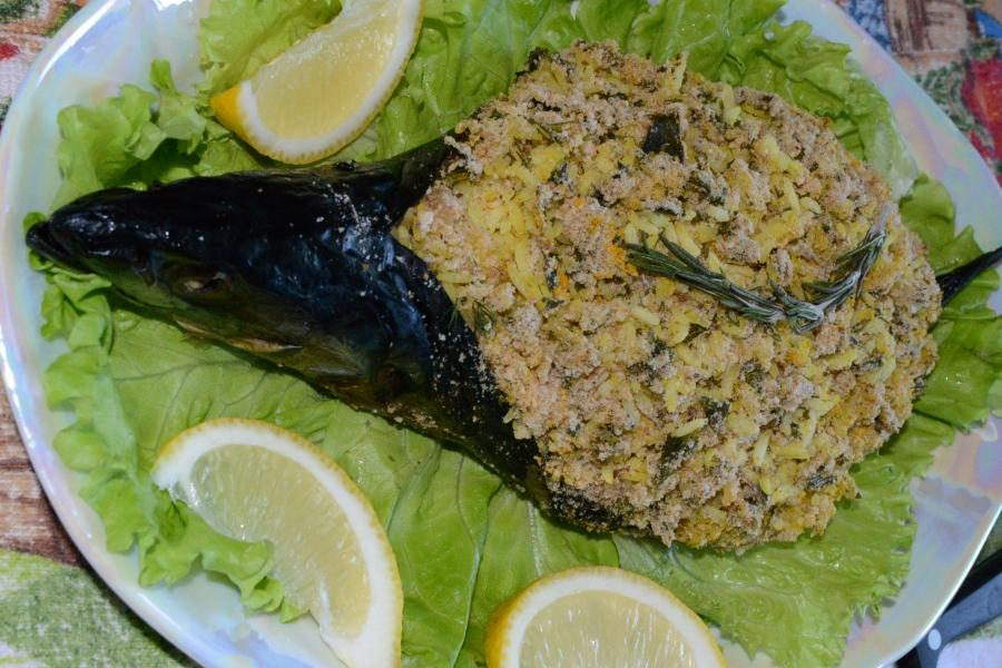 Скумбрия фаршированная желтым рисом - фото шаг 5