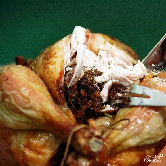 Новогодний цыпленок с финиками - фото шаг 6