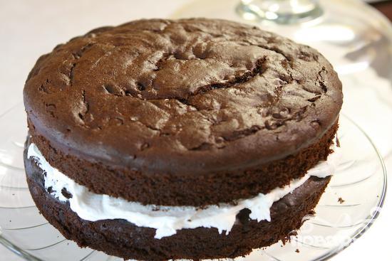 Шоколадный пирог со сливочным кремом - фото шаг 6