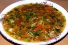 Суп из сушеных опят