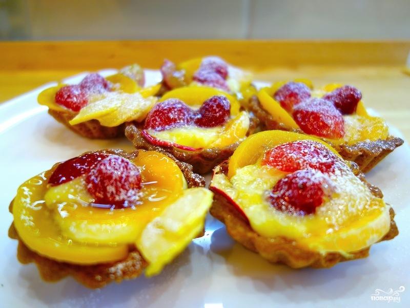 тарталетки с кремом и фруктами рецепт с фото