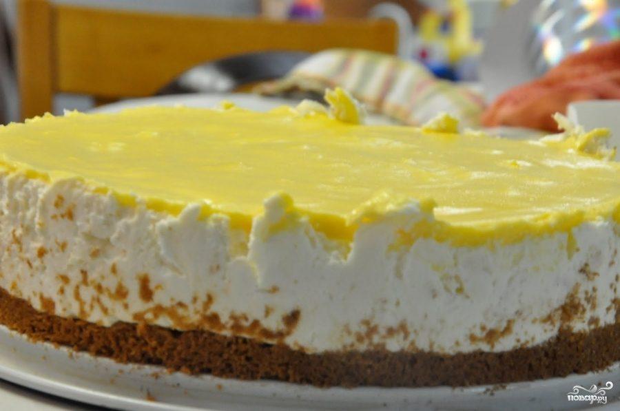 Рецепт Лимонный чизкейк без выпечки